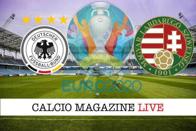 Germania Ungheria Euro 2020 cronaca diretta live risultato in tempo reale