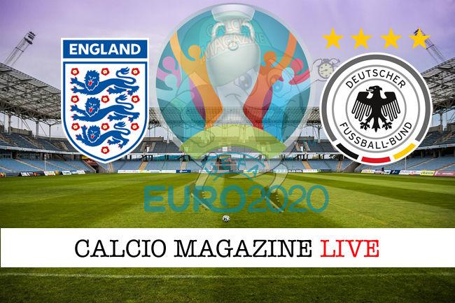 Inghilterra Germania Euro 2020 cronaca diretta live risultato in tempo reale