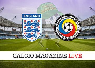 Inghilterra Romania cronaca diretta live risultato in tempo reale