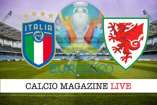Italia Galles Euro 2020 cronaca diretta live risultato in tempo reale