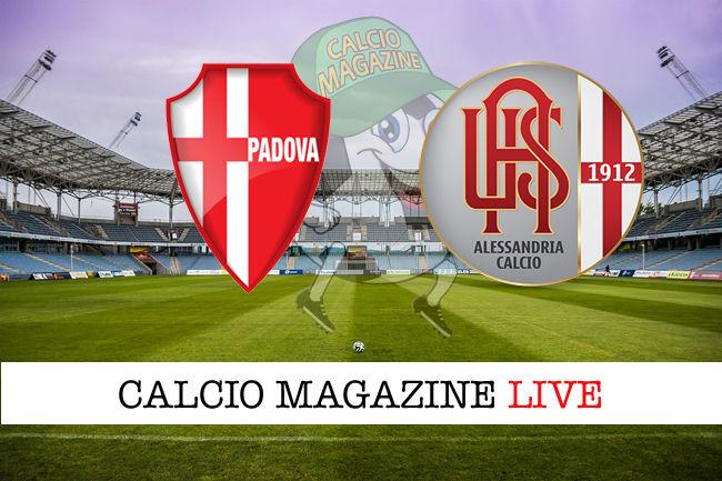 Padova Alessandria cronaca diretta live risultato in tempo reale