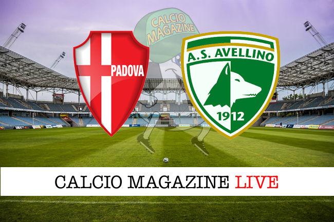 Padova Avellino cronaca diretta live risultato in tempo reale
