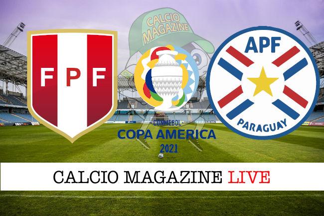 Perù Paraguay cronaca diretta live risultato in tempo reale