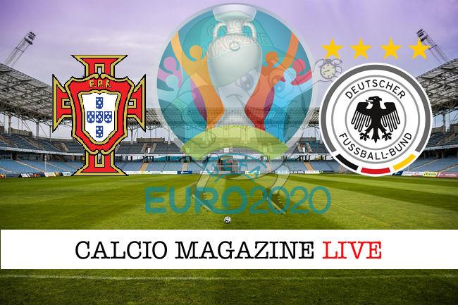 Portogallo Germania Euro 2020 cronaca diretta live risultato in tempo reale