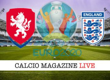 Repubblica Ceca Inghilterra Euro 2020 cronaca diretta live risultato in tempo reale