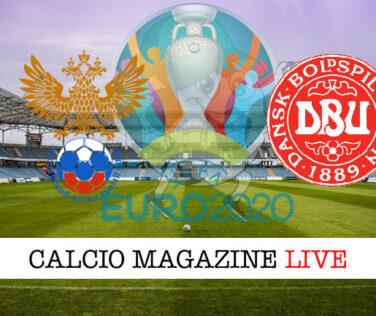 Russia Danimarca Euro 2020 cronaca diretta live risultato in tempo reale