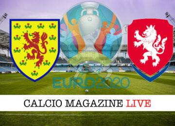 Scozia Repubblica Ceca Euro 2020 cronaca diretta live risultato in tempo reale