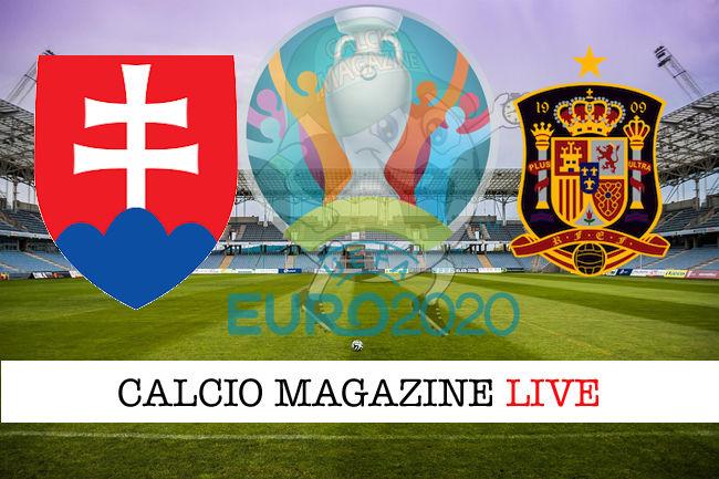 Slovacchia Spagna Euro 2020