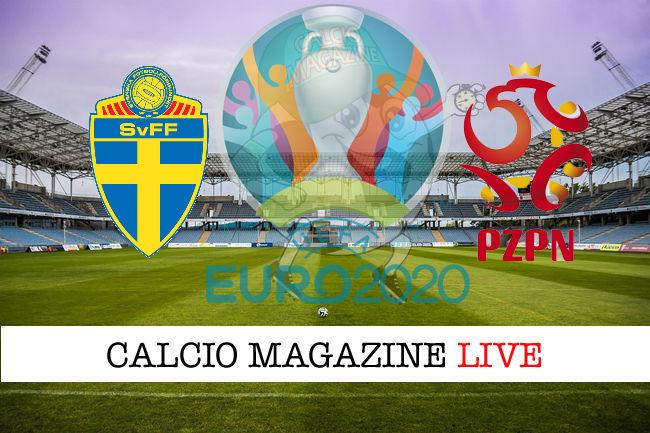 Svezia Polonia Euro 2020 cronaca diretta live risultato in tempo reale