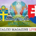 Svezia Slovacchia Euro 2020 cronaca diretta live risultato in tempo reale