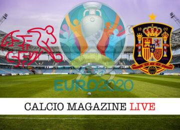 Svizzera Spagna Euro 2020 cronaca diretta live risultato in tempo reale