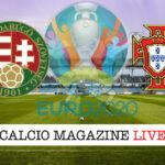 Ungheria Portogallo Euro 2020 cronaca diretta live risultato in tempo reale