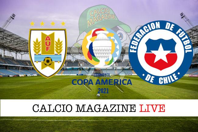 Uruguay Cile cronaca diretta live risultato in tempo reale