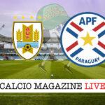 Uruguay - Paraguay cronaca diretta live risultato in tempo reale