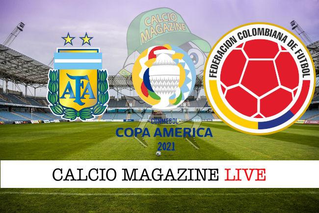 Argentina Colombia cronaca diretta live risultato in tempo reale