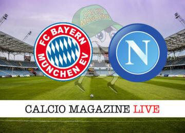 Bayern Monaco Napoli cronaca diretta live risultato in tempo reale