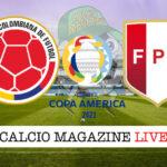 Colombia Perù cronaca diretta live risultato in tempo reale