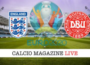 Inghilterra Danimarca Euro 2020 cronaca diretta live risultato in tempo reale