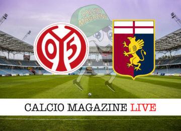 Mainz Genoa cronaca diretta live risultato in tempo reale
