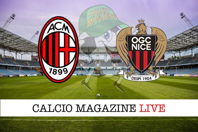 Milan Nizza cronaca diretta live risultato in tempo reale