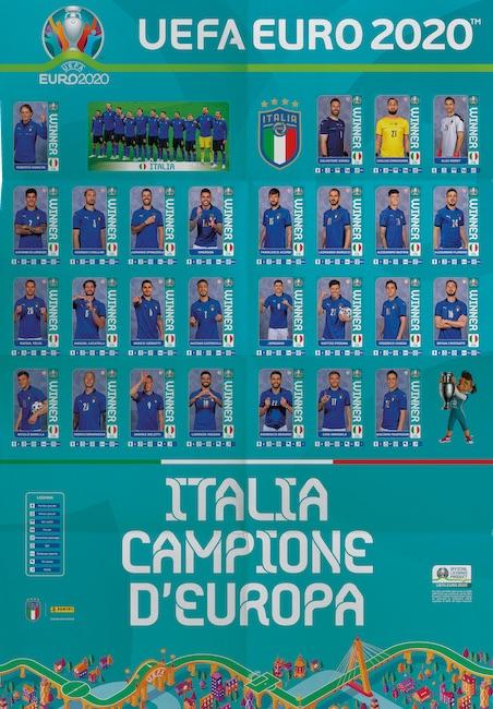 poster panini italia euro 2020