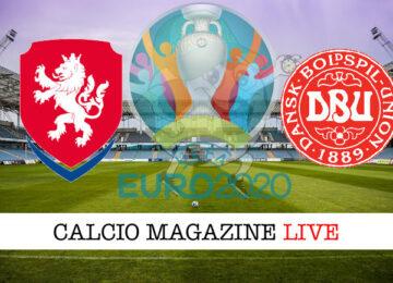 Repubblica Ceca Danimarca Euro 2020 cronaca diretta live risultato in tempo reale