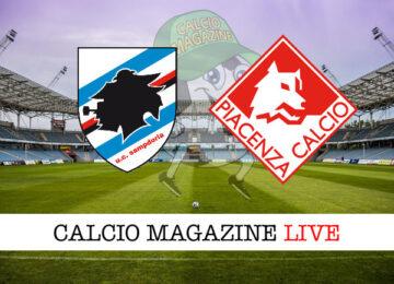 Sampdoria Piacenza cronaca diretta live risultato in tempo reale