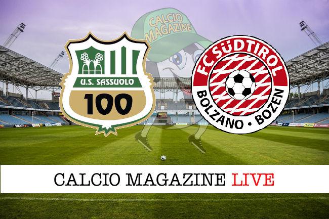 Sassuolo Sudtirol cronaca diretta live risultato in tempo reale