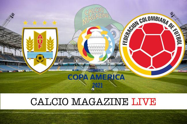 Uruguay Colombia cronaca diretta live risultato in tempo reale