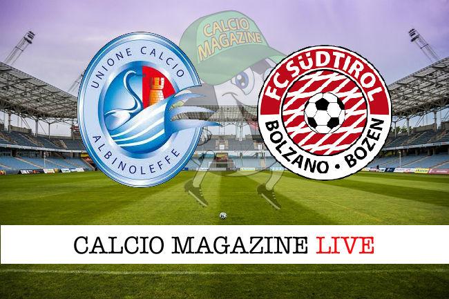 Albinoleffe Sudtirol cronaca diretta live risultato in tempo reale