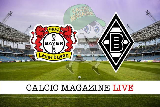 Bayer Leverkusen Borussia M'Gladbach cronaca diretta live risultato in tempo