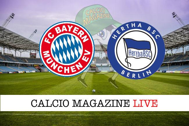 Bayern Monaco Hertha Berlino cronaca diretta live risultato in tempo reale
