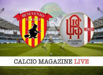 Benevento Alessandria cronaca diretta live risultato in tempo reale