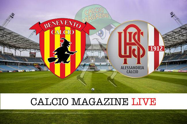 Benevento Alessandria cronaca diretta live risultato in tempo