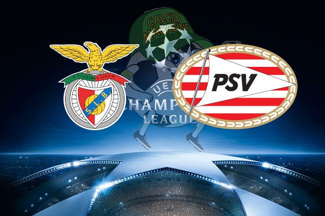 Benfica PSV cronaca diretta live risultato in tempo reale