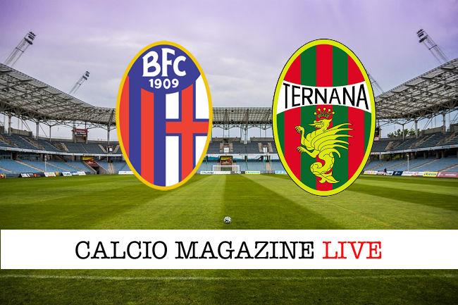 Bologna Ternana cronaca diretta live risultato in tempo reale