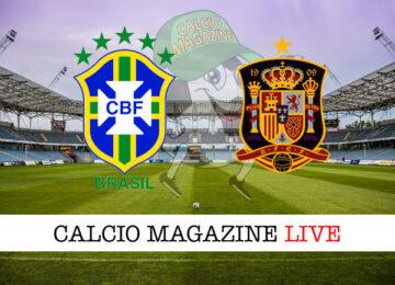 Brasile Spagna cronaca diretta live risultato in tempo reale