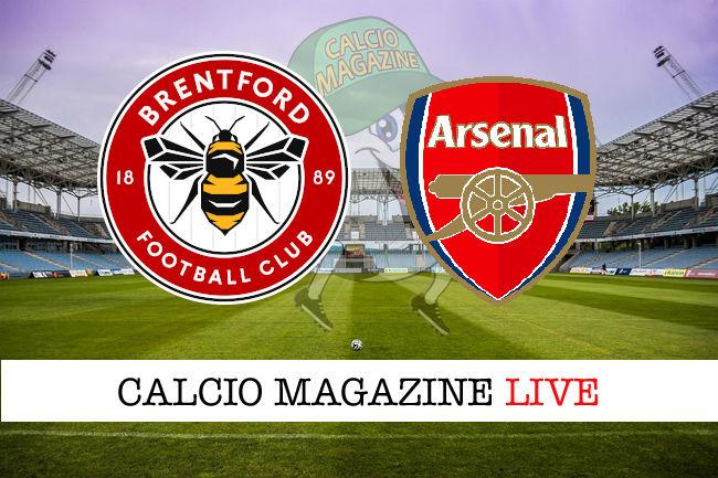 Brentford Arsenal cronaca diretta live risultato in tempo reale