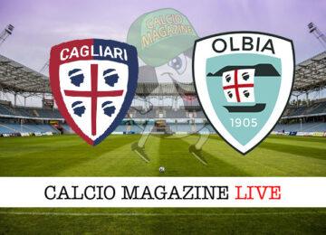 Cagliari Olbia cronaca diretta live risultato in tempo reale