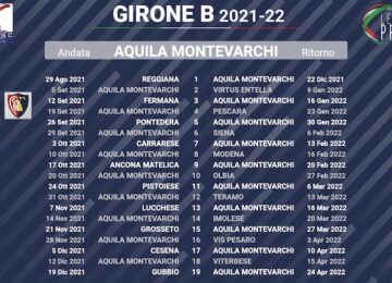 calendario aquila montevarchi 2021-2022