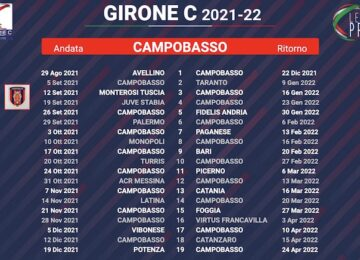 calendario campobasso 2021-2022