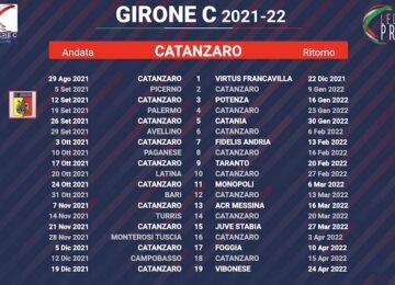 calendario catanzaro 2021-2022