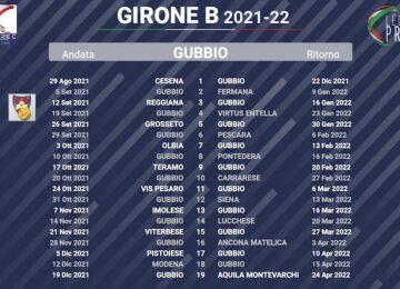 calendario gubbio 2021-2022