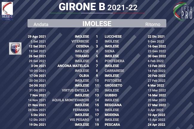 calendario imolese 2021-2022