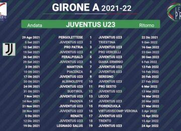 calendario juventus u23 2021-2022