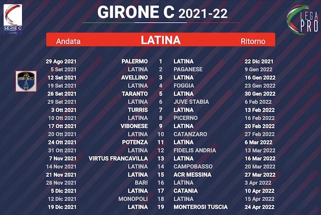 calendario latina 2021-2022