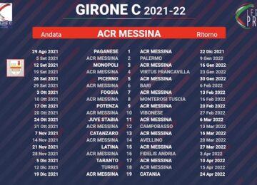 calendario messina 2021-2022