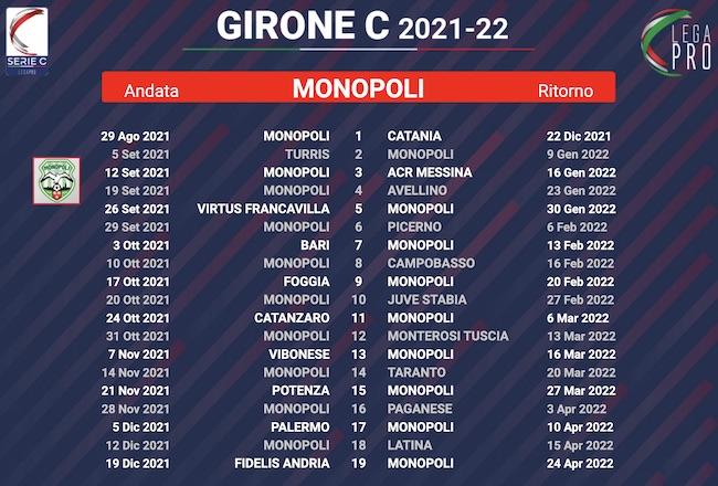 calendario monopoli 2021-2022