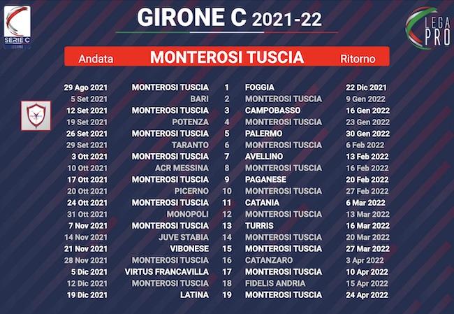 calendario monterosi tuscia 2021-2022