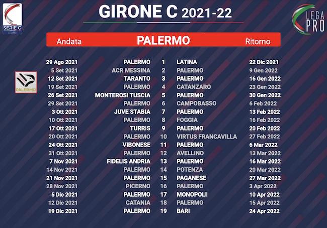 calendario palermo 2021-2022